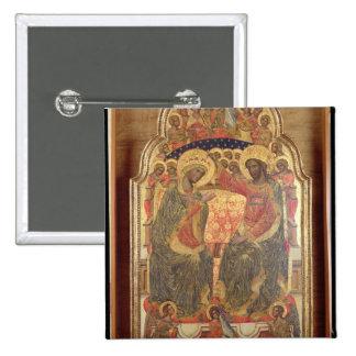 Couronnement de la Vierge, 1372 Badge Carré 5 Cm