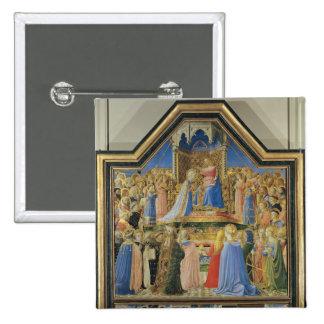 Couronnement de la Vierge, c.1430-32 Badge Carré 5 Cm
