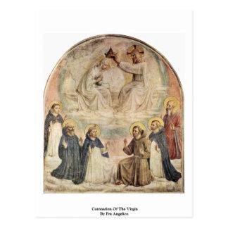 Couronnement de la Vierge par ATF Angelico Carte Postale