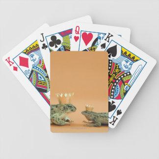 Couronnes de port de grenouille et de lézard jeu de poker