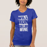 courra pour le vin t-shirts