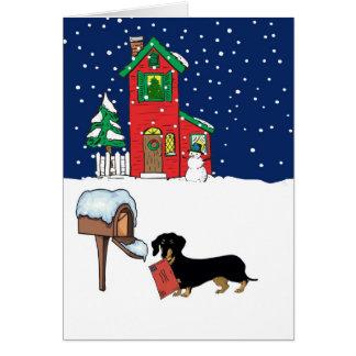 Courrier de Noël de Doxie Carte De Vœux