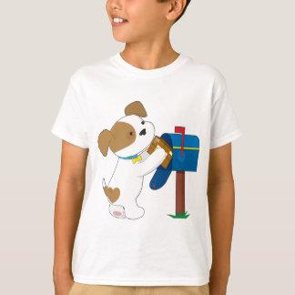 Courrier mignon de chiot t-shirt