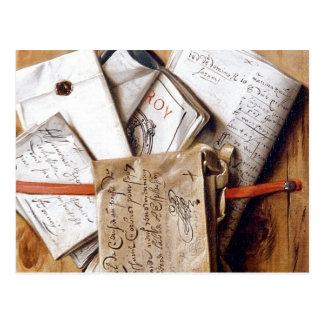 Courrier vintage carte postale