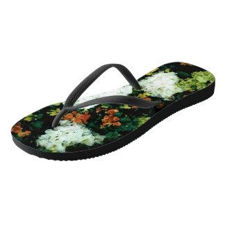 Courroies minces : Pantoufles florales Tongs