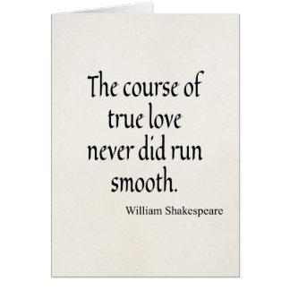 Cours de citation de Shakespeare de lisse couru Cartes