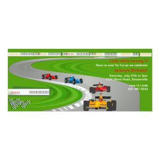 Course à l'invitation de finition carton d'invitation  10,16 cm x 23,49 cm