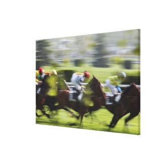 course de cheval 2 toiles