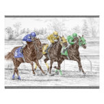 Course de cheval trois - cou et cou invitations personnalisées