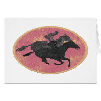 Course de chevaux carte de vœux