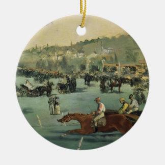 Course de chevaux de Manet |, 1872 Ornement Rond En Céramique