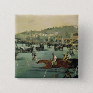 Course de chevaux de Manet |, 1872 Pin's