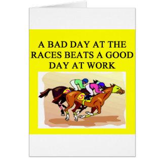 course de chevaux de pur sang carte de vœux