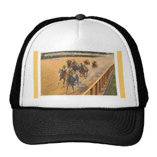 Course de chevaux de Saratoga Springs Casquettes De Camionneur