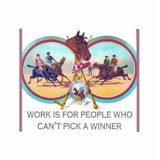 Course de chevaux drôle - travaillez pour les photo sculpture