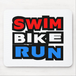 Course de vélo de bain tapis de souris