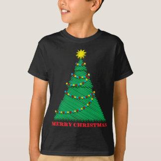 Course peu précise d'arbre de Joyeux Noël T-shirt