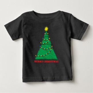 Course peu précise d'arbre de Joyeux Noël T-shirt Pour Bébé