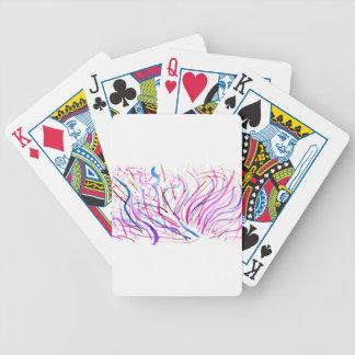 Courses colorées 4 de peinture cartes à jouer