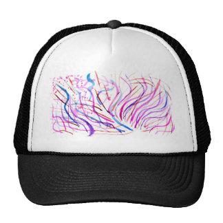Courses colorées 4 de peinture casquette de camionneur