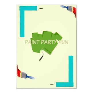 Courses de pinceau carton d'invitation  12,7 cm x 17,78 cm