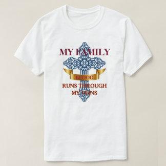 Courses de sang de famille par mes veines t-shirt
