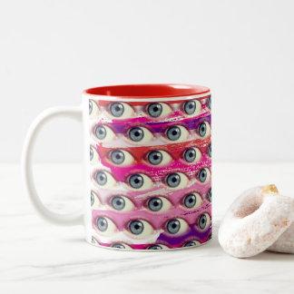 Courses d'oeil tasse 2 couleurs