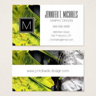 Courses expressives de brosse de texture grunge cartes de visite