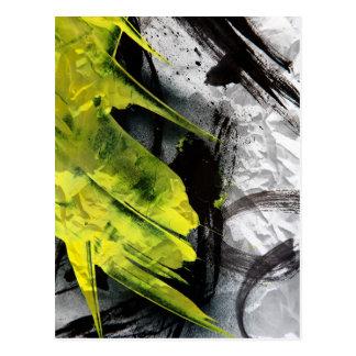 Courses expressives de brosse de texture grunge cartes postales
