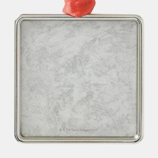 Courses grises de brosse ornement carré argenté