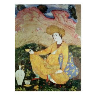 Courtisan de la cour de Shah Abbas I Carte Postale