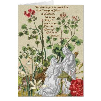 Courtoisie de Hilaire Belloc de carte vierge de