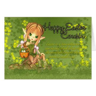 Cousin - carte de Pâques - centaure mignon avec du