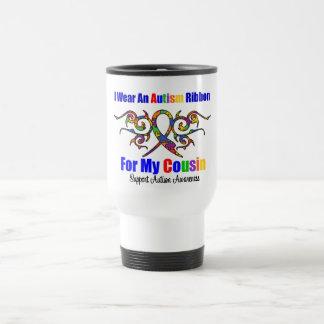 Cousin tribal de ruban d'autisme tasses à café