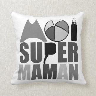Coussin 40x40cm-  Moi Super Maman - Logo N&B