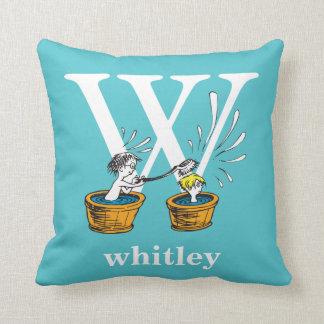 Coussin ABC de Dr. Seuss's : Lettre W - Le blanc |