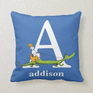 Coussin ABC de Dr. Seuss's : Marquez avec des lettres A -