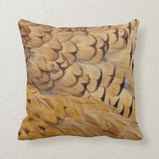 Coussin Abrégé sur plume de faisan de Brown