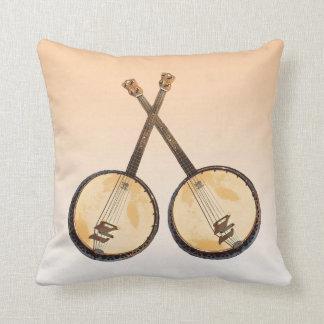 Coussin abstrait d'instrument de musique de banjo