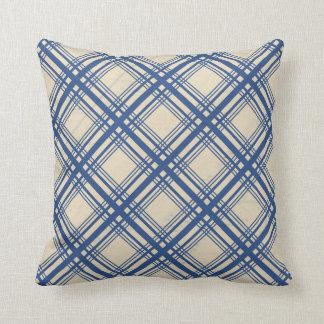 Coussin Accessoire bleu à la mode de conception de tartan