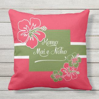 Coussin Accueil au Hawaïen de ketmie de roses indien de