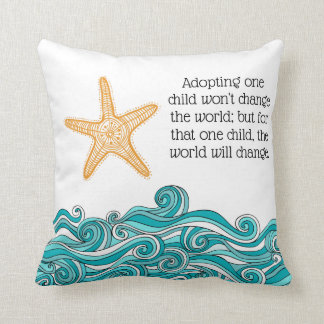Coussin Adoption d'histoire d'étoiles de mer - accueil