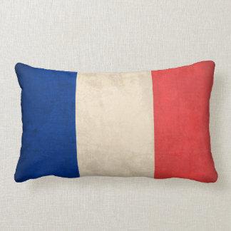 Coussin affligé par drapeau de la France -