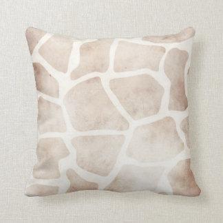 Coussin africain de motif de girafe grunge moderne