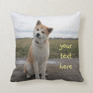 Coussin Akita Inu cute pillow