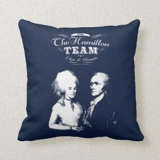 Coussin Alexander Hamilton, Eliza. Cadeaux d'histoire.