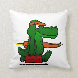 Coussin Alligator allant à la plage