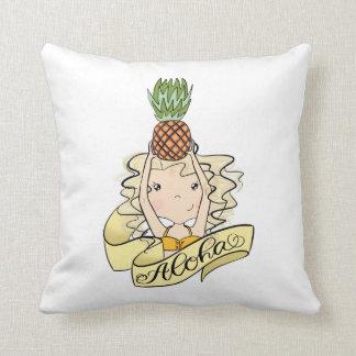 Coussin Aloha fille avec l'ananas