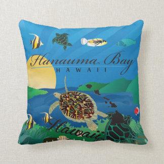 Coussin Aloha tortue et fleurs d'Hawaï