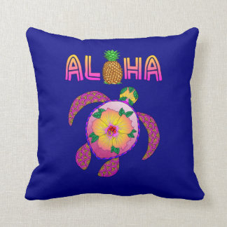 Coussin Aloha tortue hawaïenne de Honu